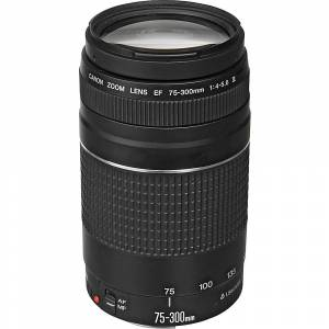 Canon EF 75-300mm f/4-5.6 III Telephoto Zoom Lens - Black - Camera Accessories