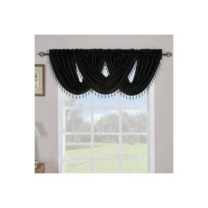 "Royal Tradition Soho Waterfall Decorative Trim Window Valance 57""wx 37""L (Single)"