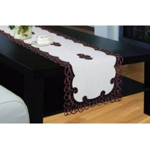 Royal Tradition Holland Table Runner, Luxury Embroidered and Hand Cutwork Table Runner, Top Dinner Kitchen Table Runner