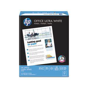 HP Office Paper 92 Brightness 20lb 8-1/2 x 11, White, 5000 Sheets/Carton