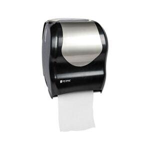 San Jamar Tear-N-Dry Touchless Roll Towel Dispenser, 16 3/4 x 10 x 12 1/2, Black/Silver