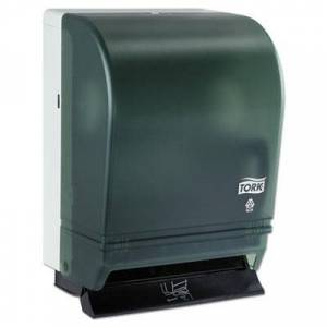 "Tork Hand Towel Roll Dispenser Push Bar, Metal/Plastic, 10.5"" x 8.75"" x 15.75"", Gray"