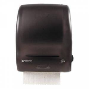 """San Jamar Simplicity Mechanical Roll Towel Dispenser, 15.25"""" x 13"""" x 10.25"""", Black"""