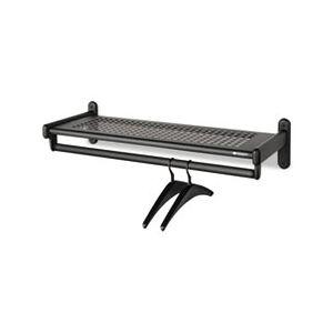 Quartet Metal Wall Shelf Rack, Powder Coated Textured Steel, 48w x 14-1/2d x 6h, Black
