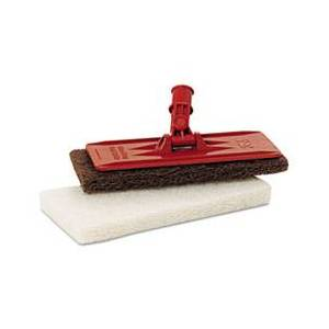 3M Doodlebug Threaded Pad Holder Kit, For 4 5/8 x 10 Pads, Orange, 4/Carton
