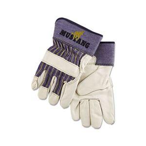 Memphis Mustang Leather Palm Gloves, Blue/Cream, X-Large, Dozen