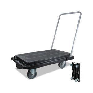 deflecto Heavy-Duty Platform Cart, 300lb Capacity, 21w x 32 1/2d x 36 3/4h, Black