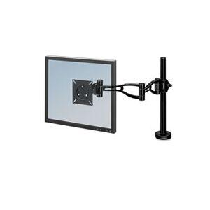Fellowes Depth Adjustable Monitor Arm, 21 x 4 3/8 x 24, Black