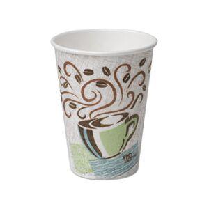 Dixie Hot Cups, Paper, 10oz, Coffee Dreams Design, 500/Carton