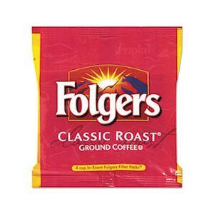Folgers Coffee, Classic Roast Regular, 6 oz, Fraction Pack, 200/Carton