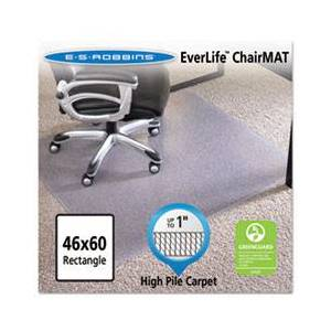 """ES Robbins 46x60 Rectangle Chair Mat, Performance Series AnchorBar for Carpet up to 1"""""""