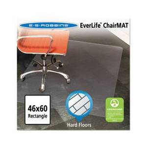 ES Robbins 46x60 Rectangle Chair Mat, Multi-Task Series for Hard Floors, Heavier Use