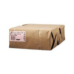 General #8 Paper Grocery, 57lb Kraft, Extra-Heavy-Duty 6 1/8x4 1/6 x12 7/16, 500 bags