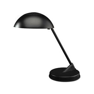 "Ledu Incandescent Desk Lamp with Vented Dome Shade, 18"" Reach, Matte Black"