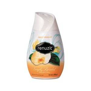 Renuzit Adjustables Air Freshener, Vanilla, Apricot Blossom & Almond, Solid, 7 oz, 12/Ct