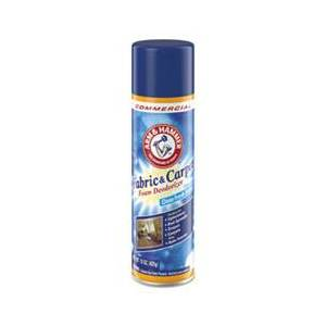 Arm & Hammer Fabric and Carpet Foam Deodorizer, Fresh Scent, 15 oz Aerosol, 8/Carton