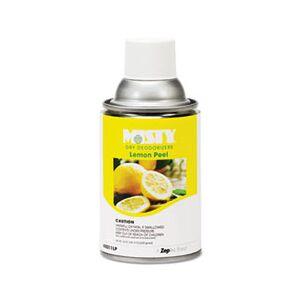 MISTY Metered Dry Deodorizer Refills, Lemon Peel, 7oz, Aerosol, 12/Carton