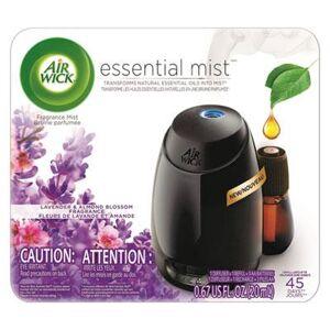 Air Wick Essential Mist Starter Kit, Lavender and Almond Blossom, 0.67 oz, 4/Carton