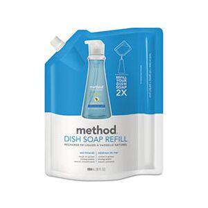 Method Dish Soap Refill, Sea Minerals, 36 oz Pouch, 6/Carton