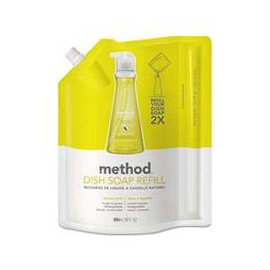 Method Dish Soap Refill, Lemon Mint, 36 oz Pouch, 6/Carton