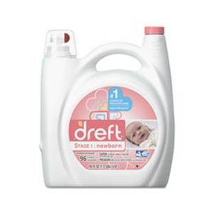 Dreft Ultra Laundry Detergent, Liquid, Baby Powder Scent, 150 oz Bottle