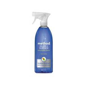 Method Glass and Surface Cleaner, Mint, 28 oz Bottle, 8/Carton