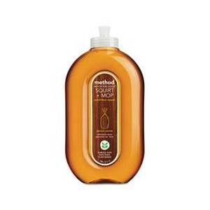 Method Squirt + Mop Wood Floor Cleaner, Almond Scent, 25 oz Squirt Bottle, 6/Carton