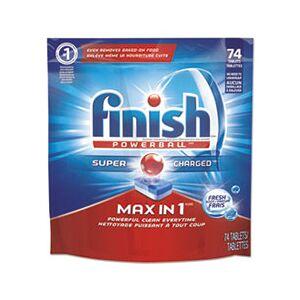 Finish Powerball Max in 1 Dishwasher Tabs, Fresh, 63/Pack, 3/Carton