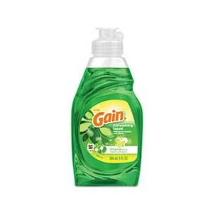 Gain Dishwashing Liquid, Gain Original, 8 oz. Bottle, 18/Carton