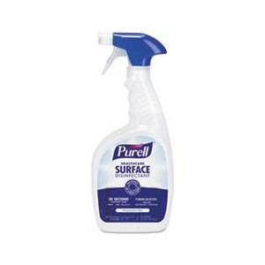 Purell Healthcare Surface Disinfectant, Fragrance Free, 32 oz Spray Bottle, 3/Carton