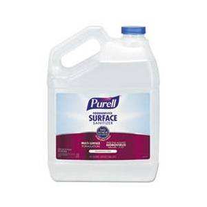 Purell Foodservice Surface Sanitizer, Fragrance Free, 128 oz Bottle, 4/Carton