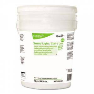 Diversey Suma Light D1.2 Hand Dishwashing Detergent, Liquid, Citrus, 5 gal Pail