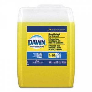 Dawn Professional Manual Pot & Pan Dish Detergent, Lemon Scent, Liquid, 5 gal. Pail