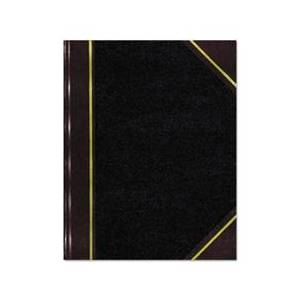 National Texthide Record Book, Black/Burgundy, 300 Green Pages, 10 3/8 x 8 3/8