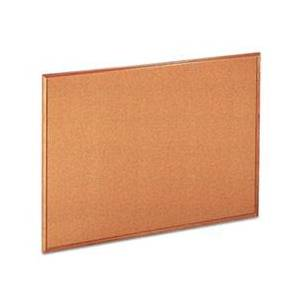 Universal Cork Board with Oak Style Frame, 48 x 36, Natural, Oak-Finished Frame