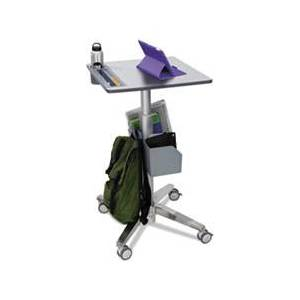 Ergotron LearnFit Adjustable Stand-Up Desk, 24w x 22d x 33 1/4h to 49 1/4h, White/Silver