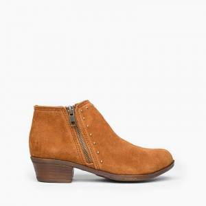 Minnetonka Moccasin   Women's Brie Boot in Brown, Size 9.5