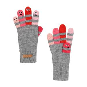 Barts kids gloves for girls, grey,  3 (4-6 years)