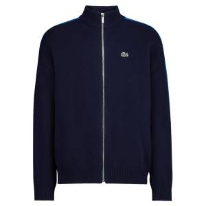 Lacoste kids cardigan for boys, blue,  10 years (140 cm)