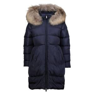 IL GUFO  kids  Down Coat  for girls, blue,  10 years (138 cm)
