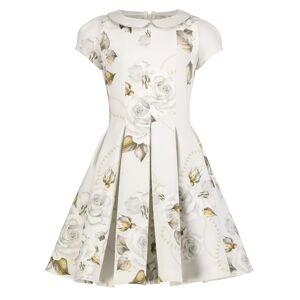 Monnalisa kids dress for girls, white,  10 years (140 cm)