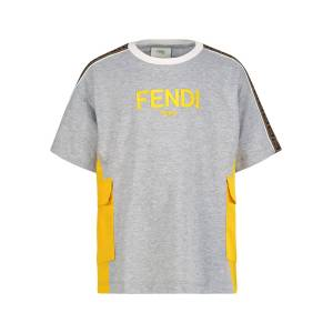Fendi kids t-shirt for boys, grey,  10 years (142 cm)