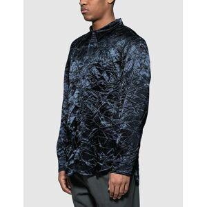 Sies Marjan Sander Crinkled Satin Shirt  - Blue - Size: Extra Large