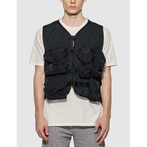 CP Company Nylon Work Vest  - Black - Size: IT 52