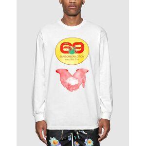 Pleasures Aloe Vera Long Sleeve T-Shirt  - White - Size: Medium