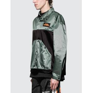 Palm Angels Color Block Sport Jacket  - Grey - Size: Small