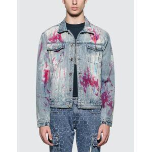 GEO Painters Canvas Denim Jacket  - Multicolor - Size: Extra Large