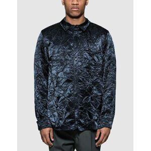 Sies Marjan Sander Crinkled Satin Shirt  - Blue - Size: Medium