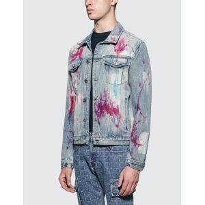 GEO Painters Canvas Denim Jacket  - Multicolor - Size: 2X-Large