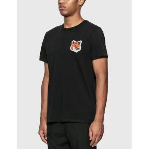 Maison Kitsune Velvet Fox Head Patch Classic T-Shirt  - Black - Size: Extra Large